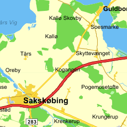 Billedresultat for Sakskøbing Map