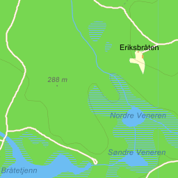 kart over veneren Brandval Svarttjernsbergsvegen på Gule Siders kart kart over veneren