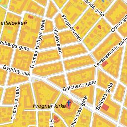frogner kirke kart Gule Sider® Kart frogner kirke kart