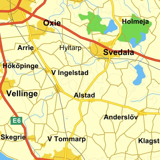 kävlinge kommun karta