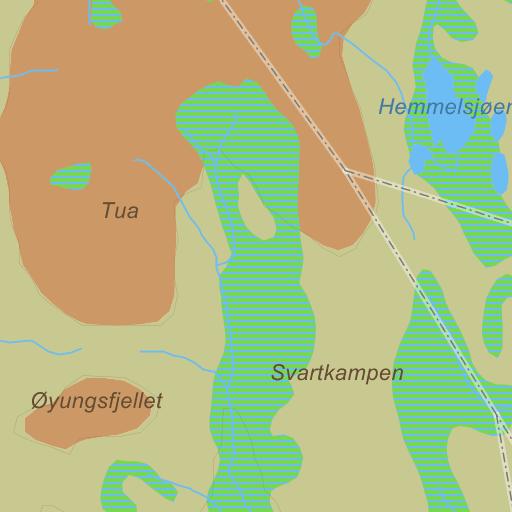 øyungen kart Ringsaker Øyungen på Gule Siders kart