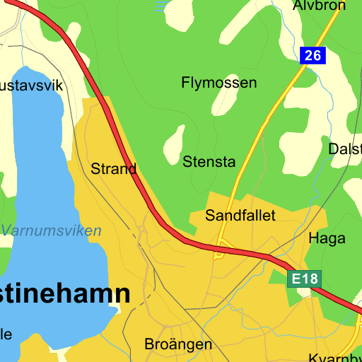 kristinehamn karta Nydala Kristinehamn   karta på Eniro
