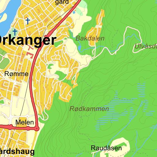 kart orkanger Fannrem   Orkanger   veibeskrivelse på kart