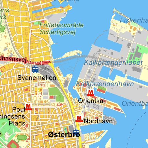 Ydre østerbro Kort På Krak