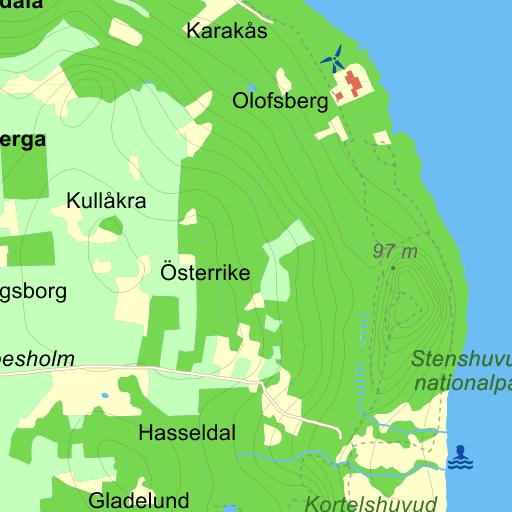 Karta Sodra Sverige Eniro.Stenshuvud Karta Karta