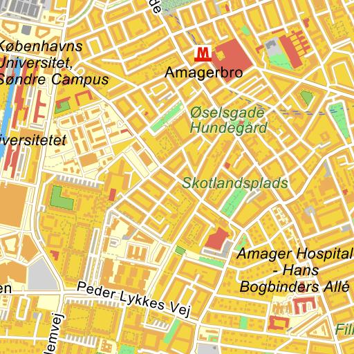 København S Islands Brygge Kort På Krak