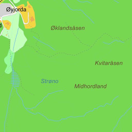 sanderstølen kart Sanderstølen på Gule Siders kart