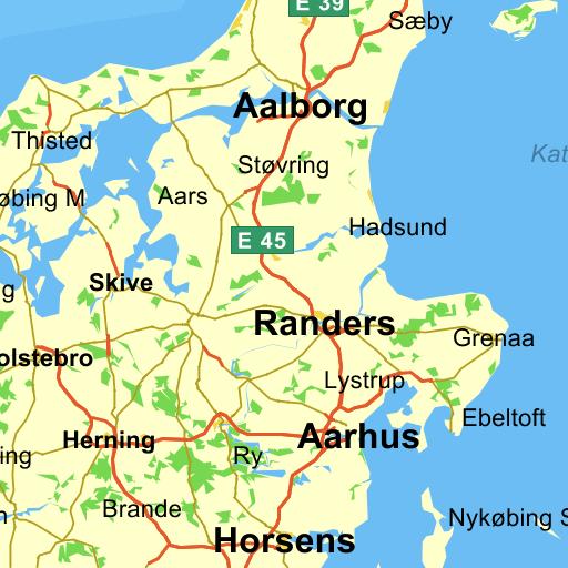 motorvejskort over jylland